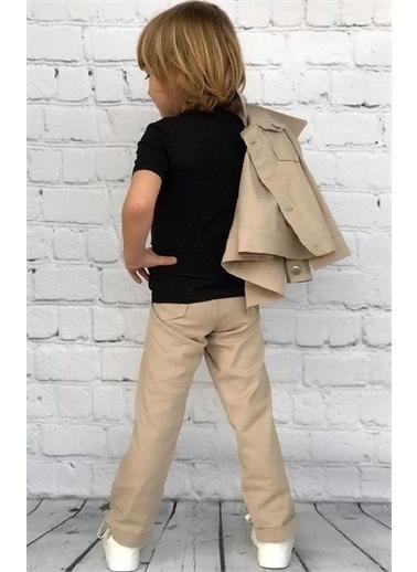 Riccotarz Erkek Çocuk Hi Gabardin Ceketli Bej Alt Üst Takım Bej